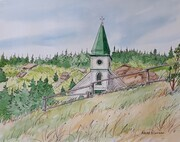 Church at Tors Cove - view from the East Coast Trail