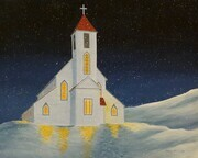 St. Barnabas Church  - Bay de Verde greeting card
